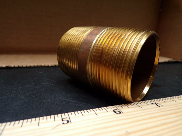 (25) Red Brass Pipe Nipple, 1-1/2