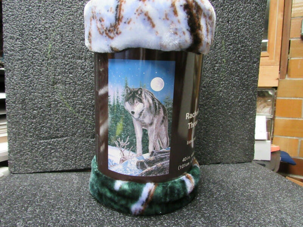 "Soft Throw Blanket Wolf, Extra Long 40""x 68"