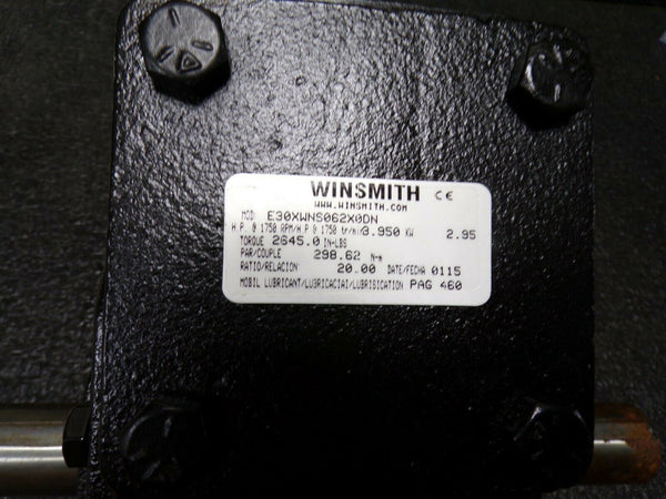 WINSMITH E30XWNS, 20:1 Speed Reducer, Indirect Drive, (184213660181-BT35)