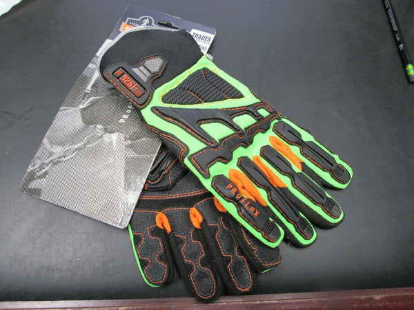 ERGODYNE Proflex 925F(x)  Anti-Vibration Gloves, S, Lime/Blk/Orange (184253692709-C41)