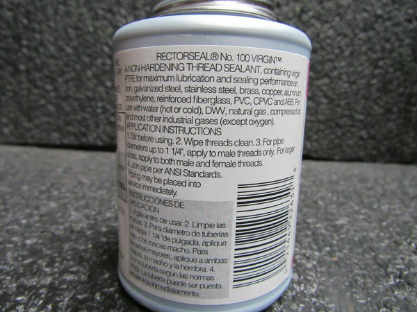 Rectorseal #100 Virgin Pipe Thread Sealant, 4 oz. Model #: 22631, (184283218661-BT41)