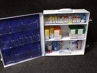 FIRST AID ONLY First Aid Kit, Cabinet, Metal, General Purpose, 125 People Served per Kit, 90575 (SQ8307436WT11)
