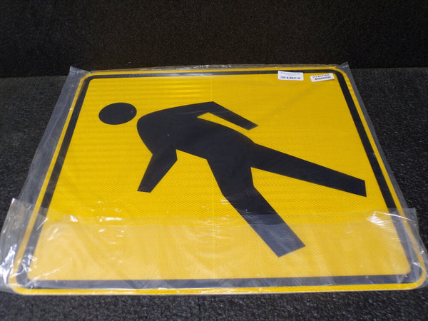 ZING Traffic Sign, Pedestrian, Aluminum, 24