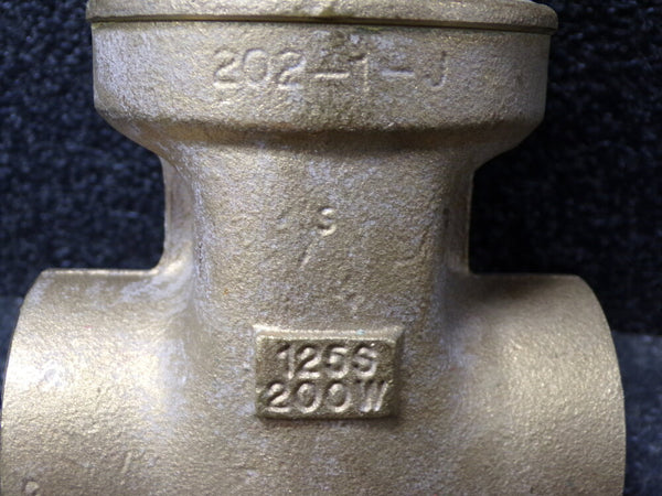 MILWAUKEE VALVE Gate Valve, Class 125, Bronze, Solder Connection, Pipe Size - 2