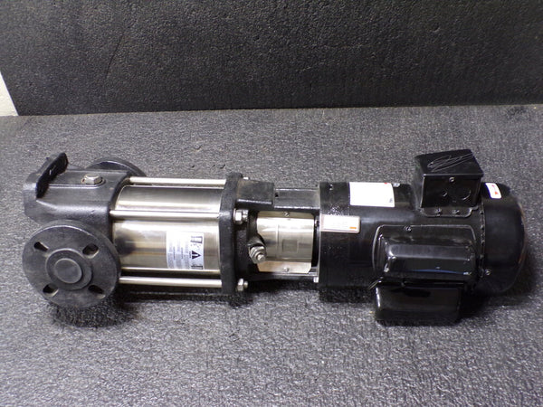DAYTON 120/208 to 240V AC Totally Enclosed Fan-Cooled Multi-Stage Booster Pump, 11-Stage, 1-1/4 in Flanged (SQ30854782D46)