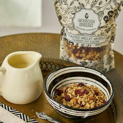 Toasted Millet Muesli Cranberry and Almond