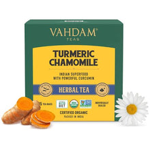 Load image into Gallery viewer, Turmeric Chamomile Herbal Tea - 15 Pyramid Tea Bags