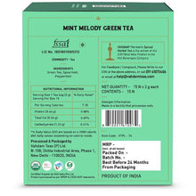 Load image into Gallery viewer, Mint Melody Green Tea - 15 Pyramid Tea Bags