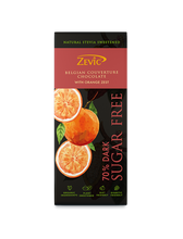 Load image into Gallery viewer, Zevic Orange Zest and Stevia, 70% Dark Belgian Chocolate 40 gm