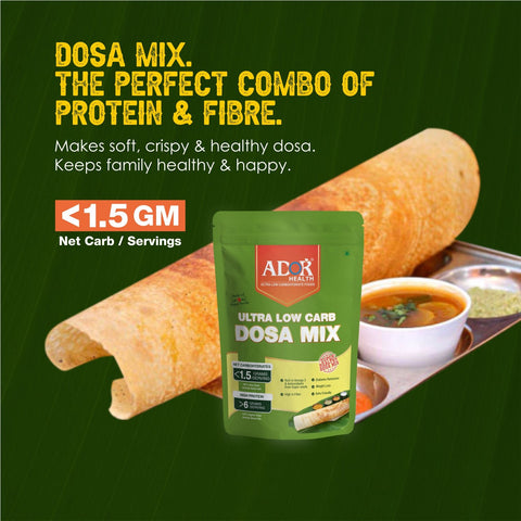ADOR Health Ultra Low Carb Dosa Mix-350 gram