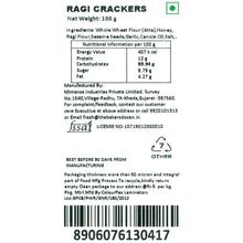 Load image into Gallery viewer, Handmade Ragi Crackers (Pack of 2) 100% Wholewheat/Atta