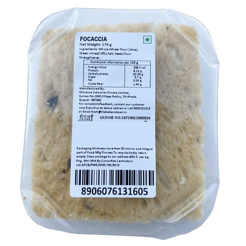 Handmade Focaccia 100% Wholewheat/Atta (Pack of 2) [Available in Bangalore, Delhi, Mumbai]