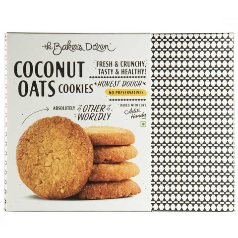 Coconut Oats Cookies (No Preservatives, Honest Dough)