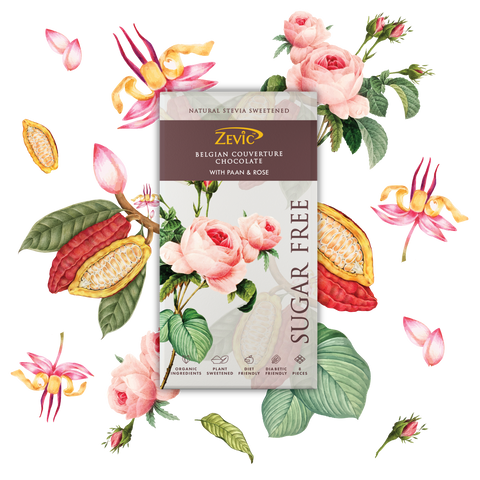 Zevic Paan and Rose, Belgian Couverture Chocolate 96 gm