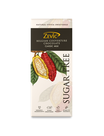 Zevic Belgian Milk Chocolate, Sugar Free Classic 40 gm