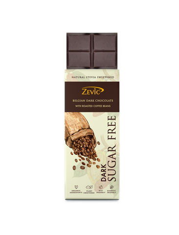 Zevic Stevia Chocolate with Roasted Coffee Beans 40 gm