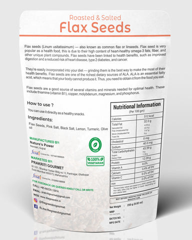 Roasted Salted Flax Seeds
