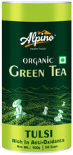 Load image into Gallery viewer, Alpino Certified Organic Tulsi Green Tea 100 Gms (Rich In Anti-Oxidants / Detox Green Tea)