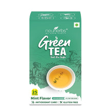 Load image into Gallery viewer, Neuherbs Green Tea Bags for Weight Loss & Immunity - 25 pcs (Mint)