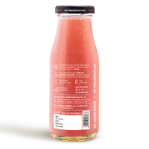 Litchi & Aloe Vera Smoothie: No Added Sugar & Preservatives, 200ml (Pack of 6)