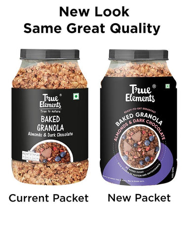 True Elements Baked Granola: Almonds and Dark Chocolate