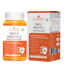 Load image into Gallery viewer, Neuherbs Triple Immune - C (Vitamin - C Supplements) â Immunity Booster & skincare Booster for adults