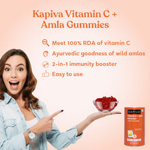 Load image into Gallery viewer, Kapiva Vitamin C Gummies For Kids and Adults