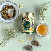 Load image into Gallery viewer, Zevic Immunity Blend Tea - 20 Pyramid Tea Bags (Sweetened with Stevia)