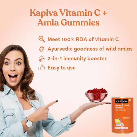 Kapiva Vitamin C Gummies For Kids and Adults