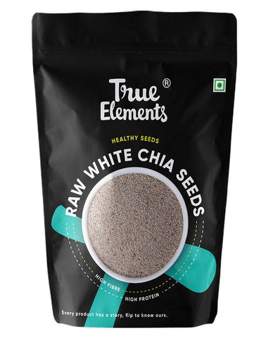 True Elements Raw White Chia Seeds 500gm