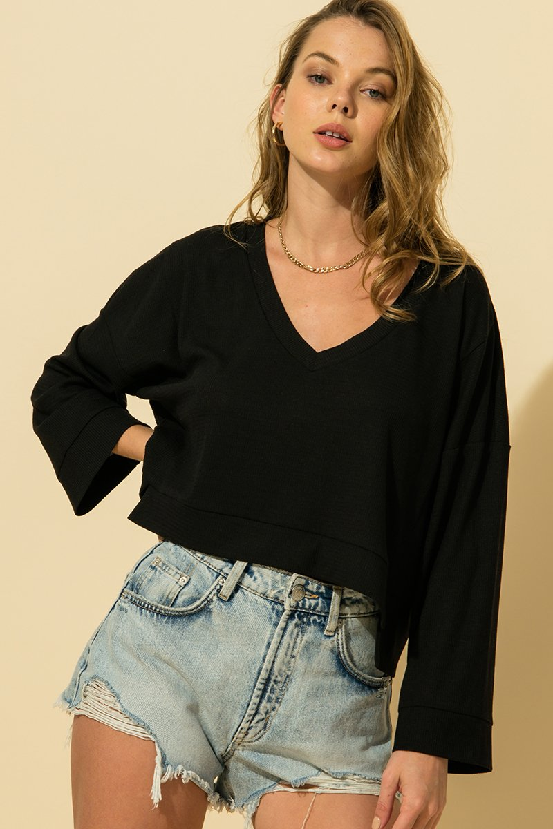 The Emily Oversized Crop Top(2 colors)