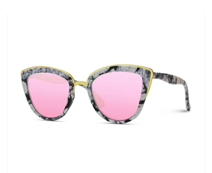 Susie Cat Eye Marbled Sunglasses
