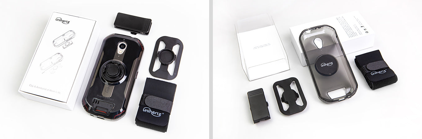 Clip and armband for Unihertz Atom L in the box