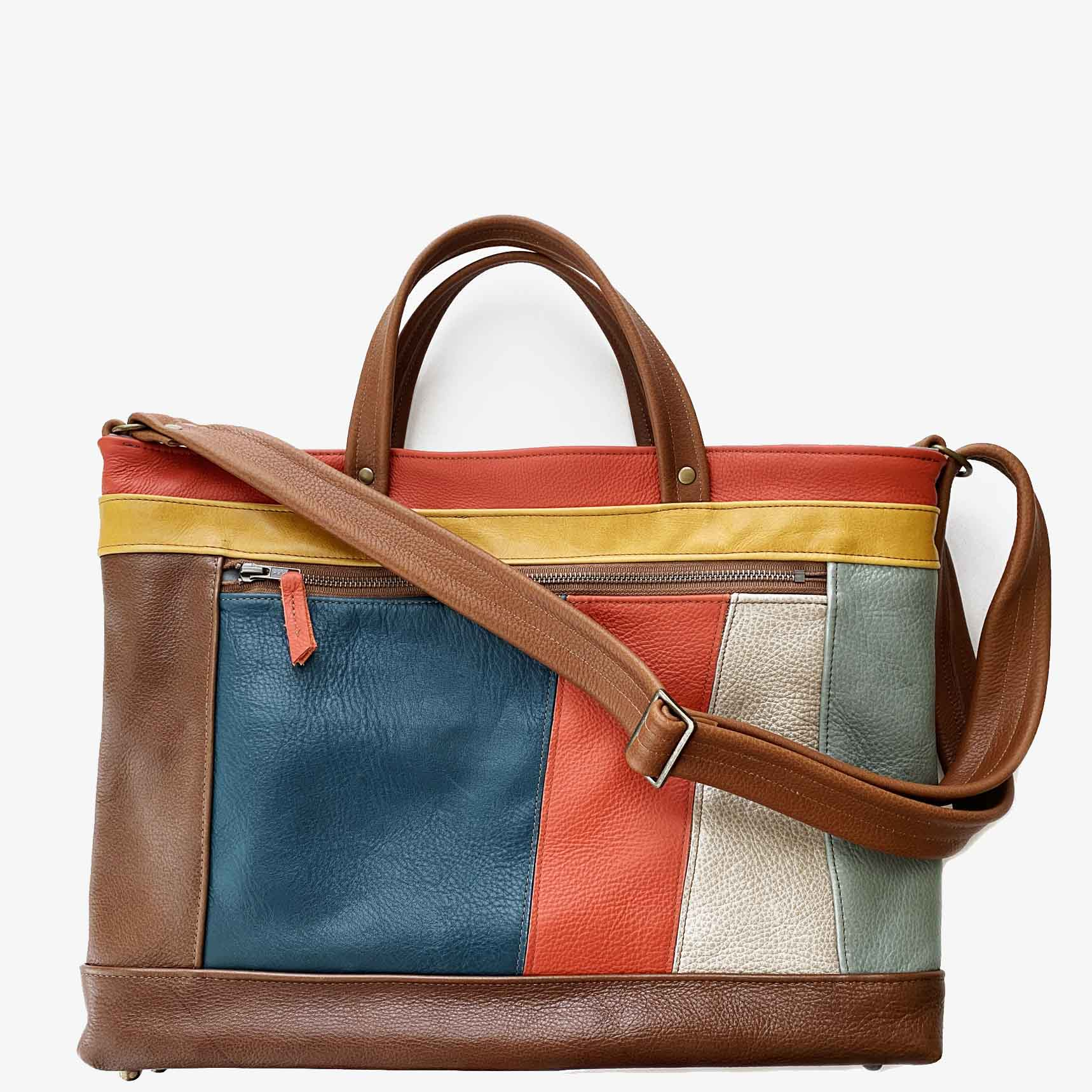 Archive Tote in Retro Patchwork, RTS