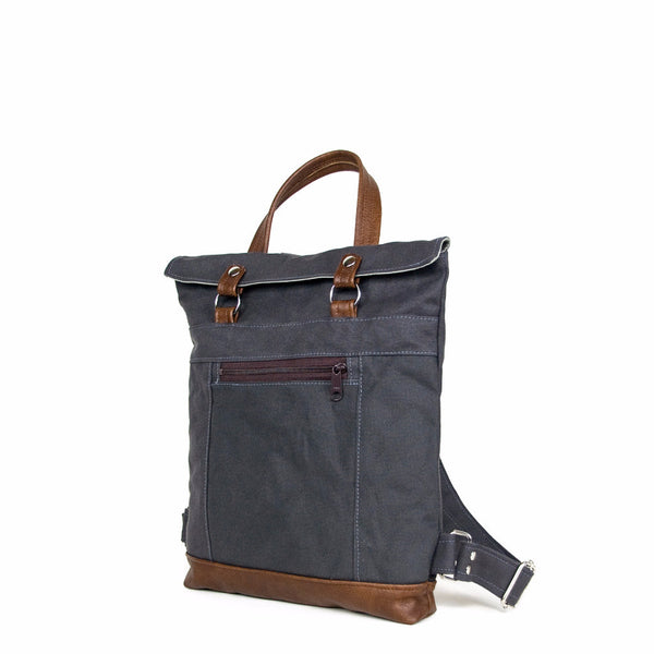 Backpack Mini in Gray/Chestnut