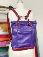 Load image into Gallery viewer, Backpack Mini in Violet/Crimson