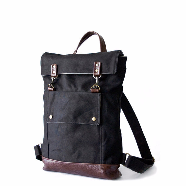 Backpack in Black/Dark Roast