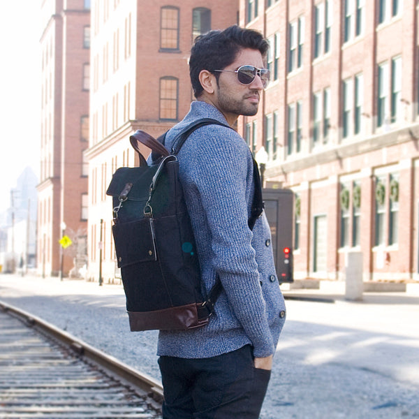 Backpack in Black/Dark Roast, RTS