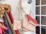 Load image into Gallery viewer, Crossbody Clutch in Faded Rose/Dusty Rose, RTS