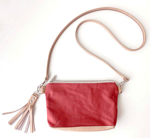 Crossbody Clutch in Faded Rose/Dusty Rose, RTS