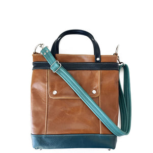 Packet in Cognac/Dark Teal/Turquoise/Onyx, RTS