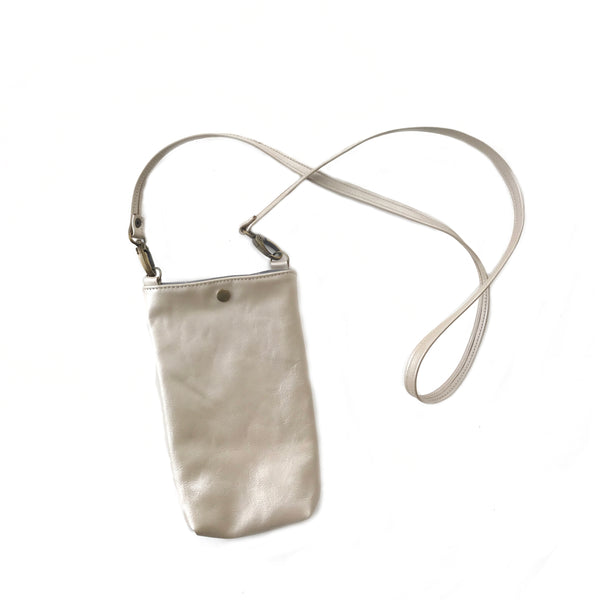Phone Pouch Crossbody in Pearl, RTS