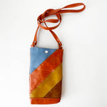 Load image into Gallery viewer, Phone Pouch Crossbody in Retro Patchwork 2, RTS