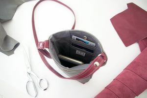 Phone Pouch Crossbody in Retro Patchwork 2, RTS