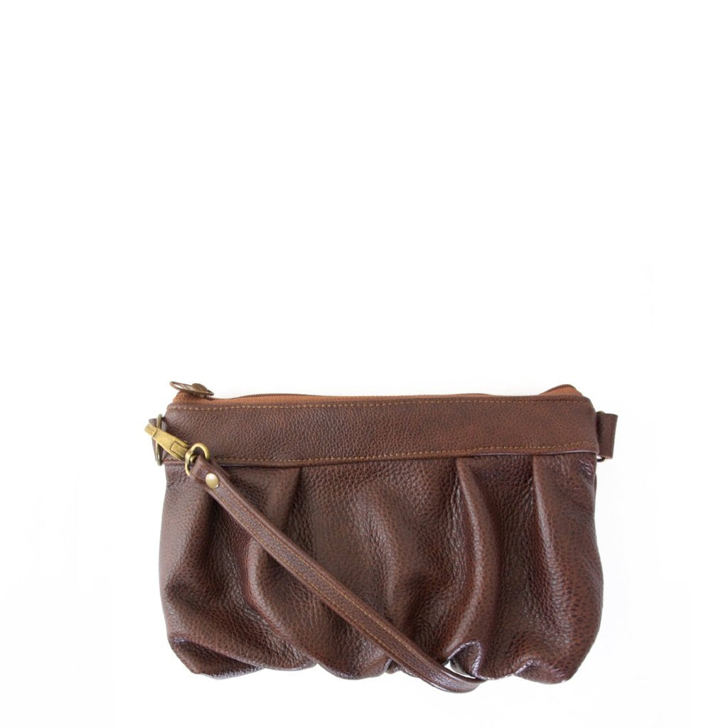 Ruche Clutch in Dark Roast, RTS