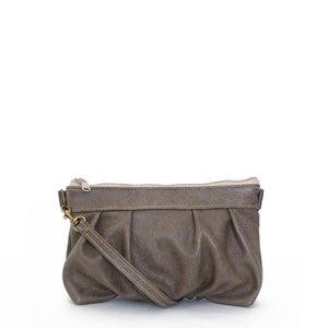 Ruche Clutch in Smoke