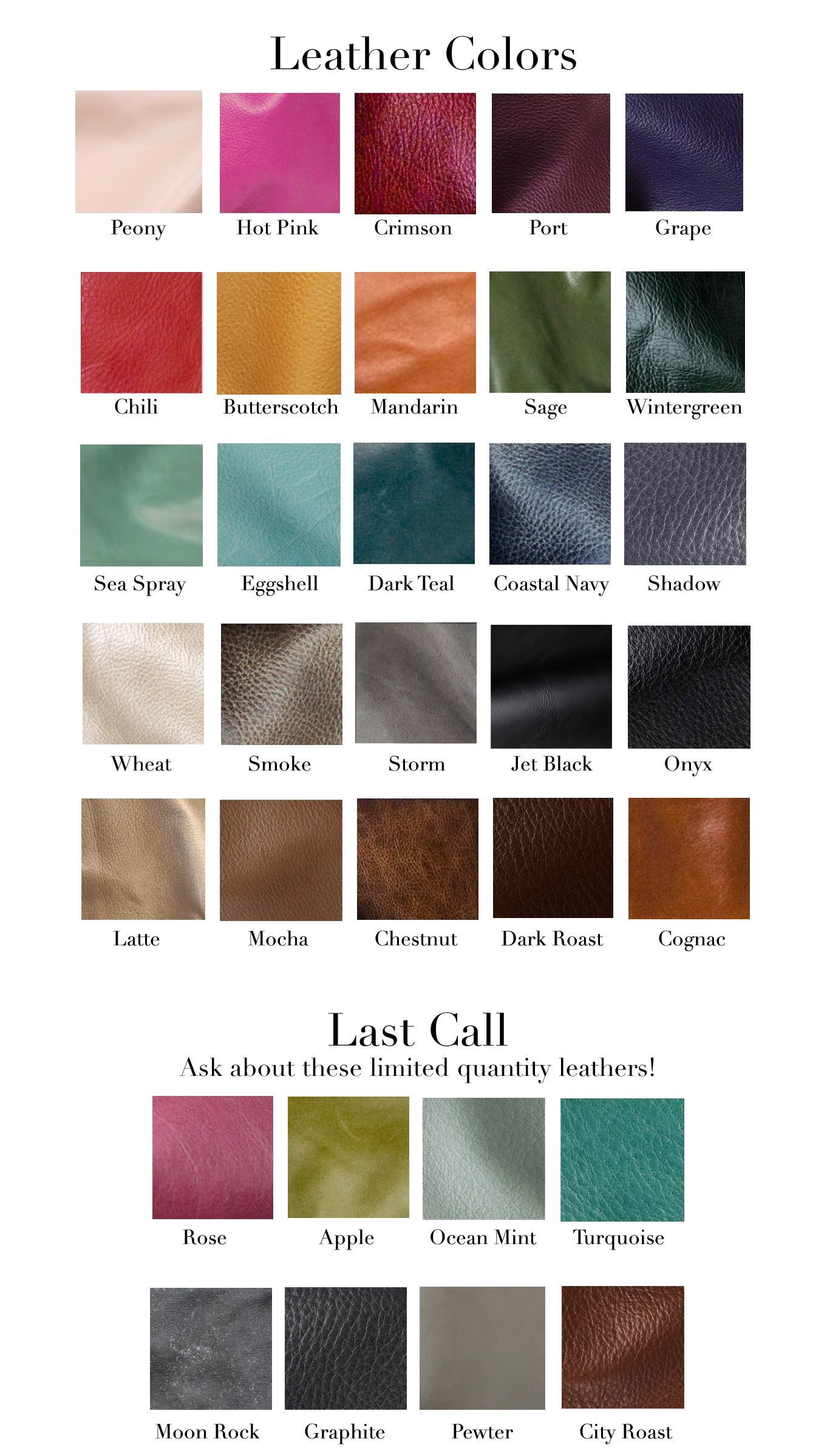 Leather Colors