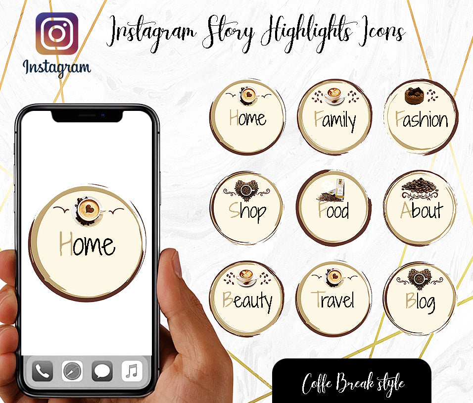 Custom Instagram Highlight Covers