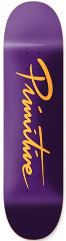 PRIMITIVE TEAM NUEVO SCRIPT PURPLE PP DECK 8.25