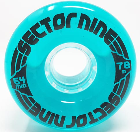 SECTOR 9 NINEBALL TEAL BLUE 64MM 78A (Set of 4)